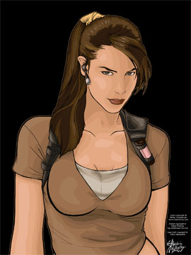 The Real Lara Croft - colored